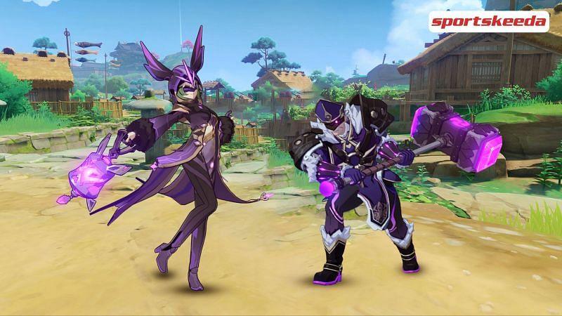 Two enemies in Genshin Impact