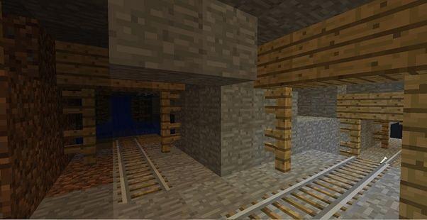 Mineshaft (Image via Minecraft)