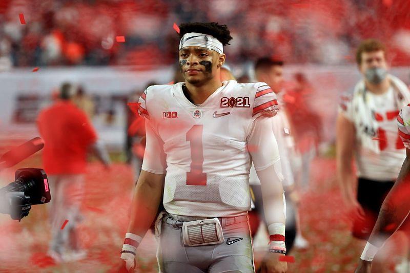 Former Ohio State QB <a href='https://www.sportskeeda.com/player/justin-fields' target='_blank' rel='noopener noreferrer'>Justin Fields</a>