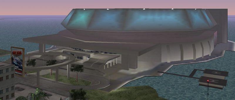 यह पूरा स्टेडियम बीटा मैप में बिल्कुल अनुपस्थित है (छवि GTA Wiki के माध्यम से)