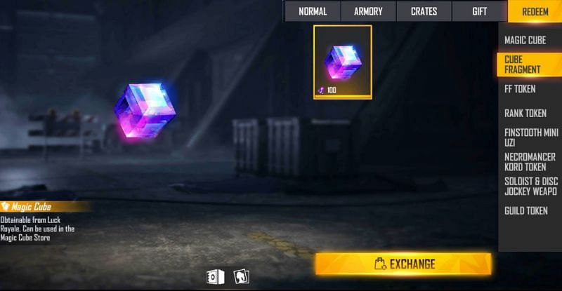 Cube fragments can be collected and then exchanged for the Magic Cube (Image via Free Fire)