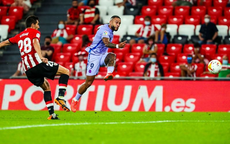 Memphis Depay scored to snatch a draw for Barcelona against Athletic Bilbao.
