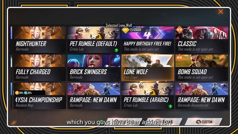 The 1v1 mode in Garena Free Fire has been announced (Image via Free Fire / YouTube)