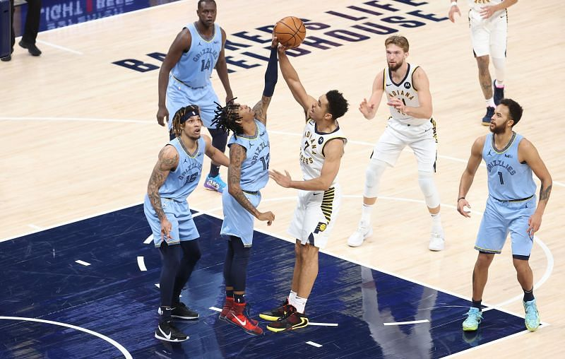 Memphis Grizzlies in action during an NBA game.