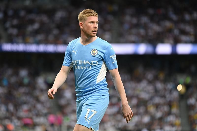 Kevin De Bruyne of Manchester City has a potent long-range shot.