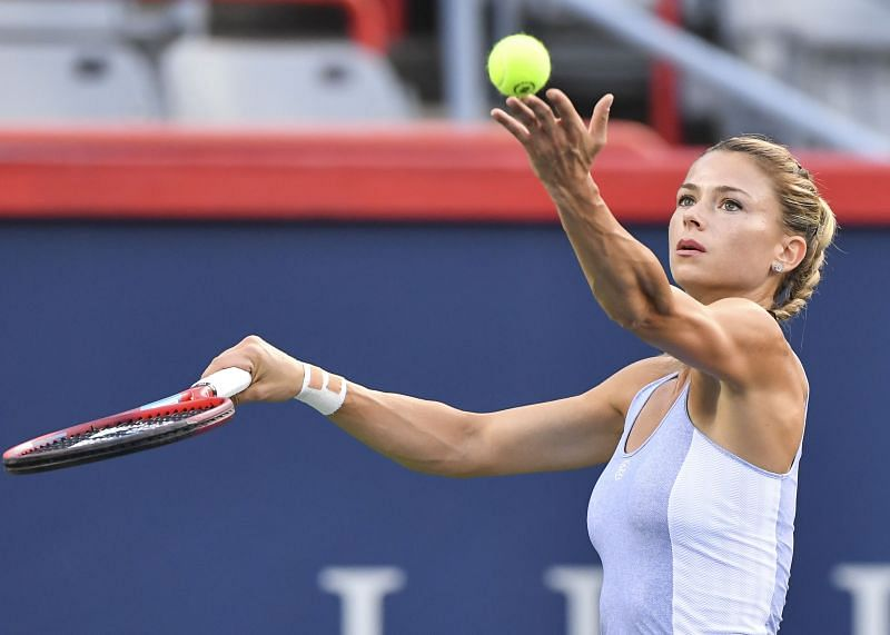 Camila Giorgi has looked particularly strong on serve this week.