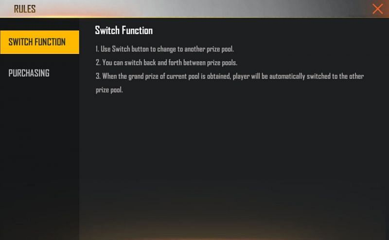 Rules for Mystery Shop event in Free Fire (Image via Free Fire)