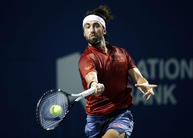 Nikoloz Basilashvili at the Toronto Masters