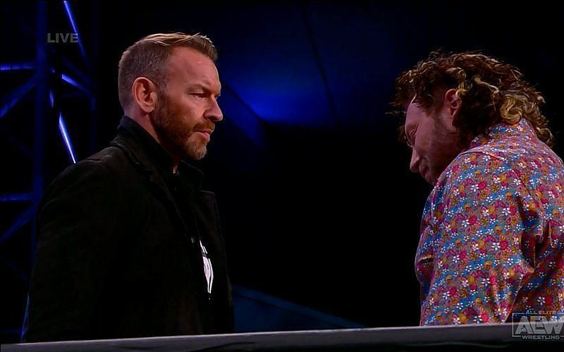 Christian Cage confronting Kenny Omega