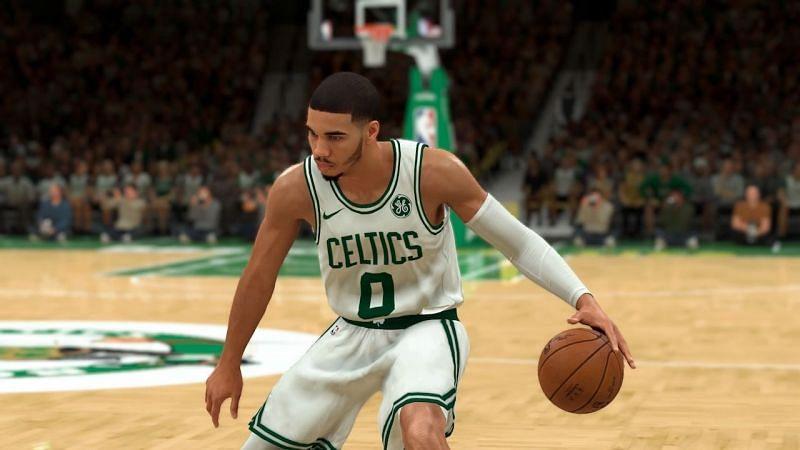 Jayson Tatum of the Boston Celtics as seen in NBA 2K20 [Source: VGR]