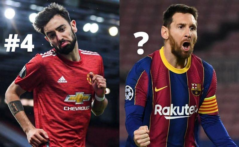 Bruno Fernandes and Lionel Messi
