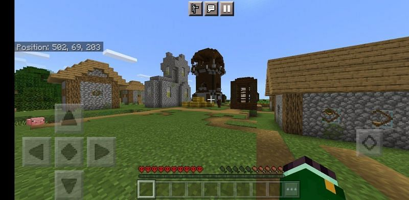 Village with outpost (Image via u/RussianSaurusRex on Reddit)