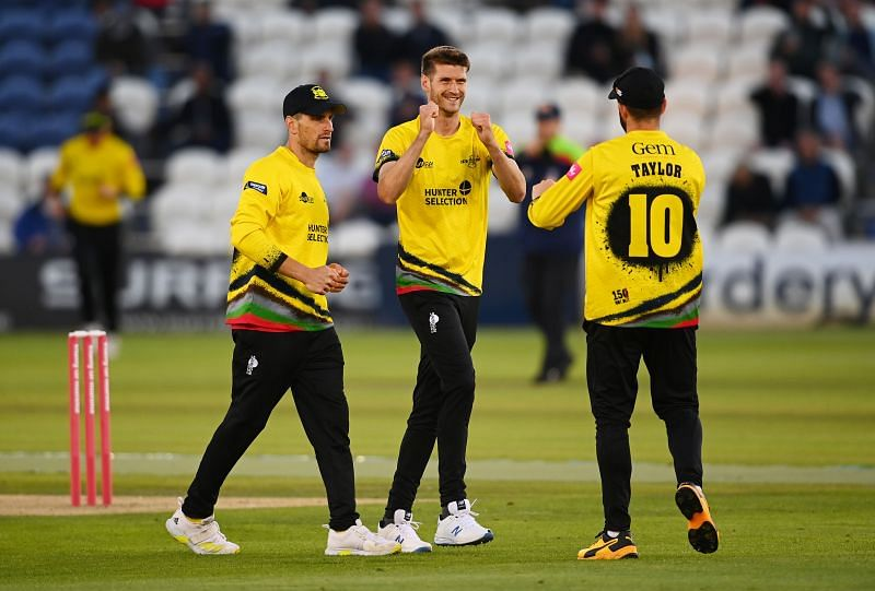 Sussex Sharks v Gloucestershire during the two sides last meeting in the Vitality T20 blast