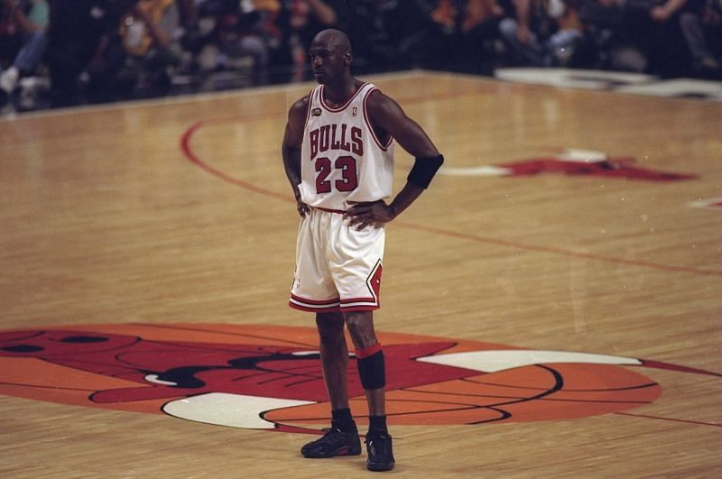 Jordan with the Chicago Bulls.