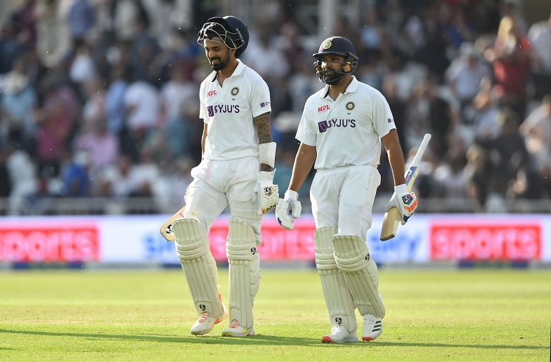 KL Rahul and Rohit Sharma. Pic:Getty Images