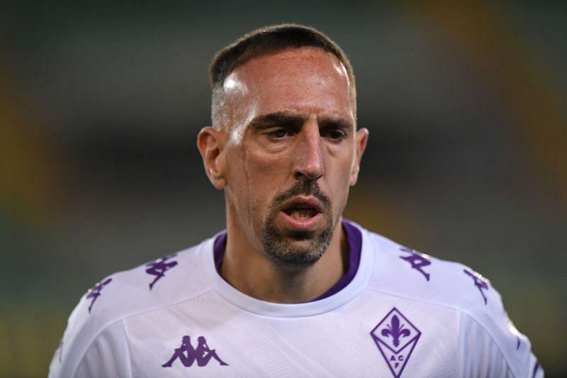 Франк Рибери в действии для ACF Fiorentina