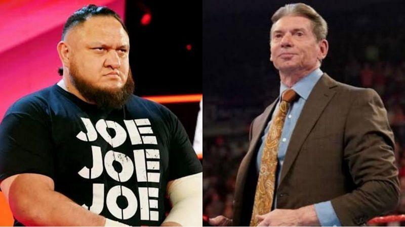 WWE NXT चैंपियन समोआ जो और विंस मैकमैहन
