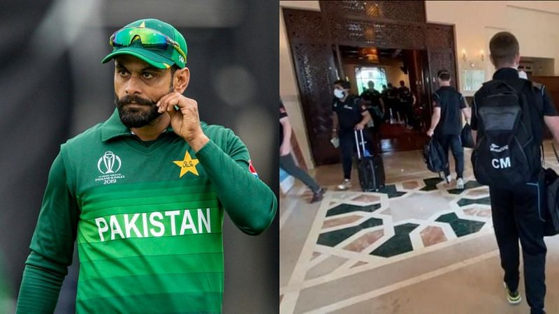 Mohammad Hafeez (L) made a sharp attack on New Zealand crickters.