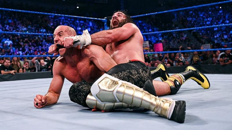Seth Rollins launched a vicious assault on Cesaro before Edge made the save