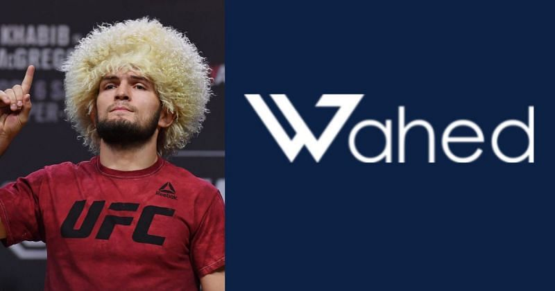 Khabib Nurmagomedov is to be new brand ambassador for FinTech firm Wahed Inc. [Right image credit: halal.wahedinvest.com]