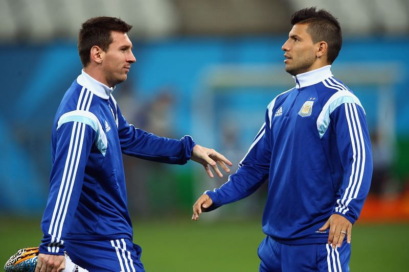 Aguero was quizzed about Messi's debut for PSG