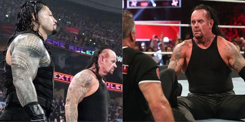 WWE Extreme Rules में अंडरटेकर और रोमन रेंस ने टीम बनाकर मैच लड़ा था