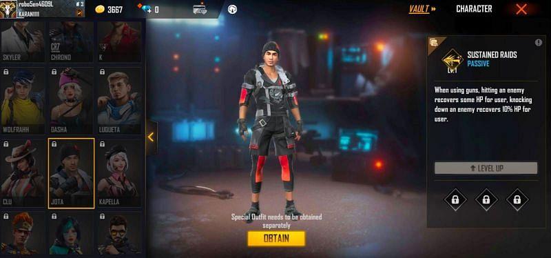3 karakter Free Fire terbaik untuk gameplay agresif pada September 2021