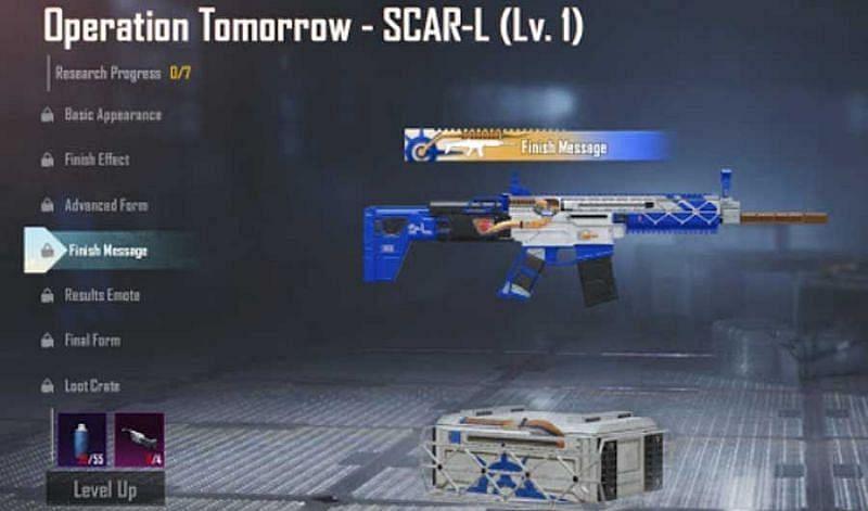 BGMI में गेम के अंदर उपयोग करने के लिए SCAR-L गन