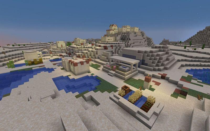 The desert village (Image via Minecraft)