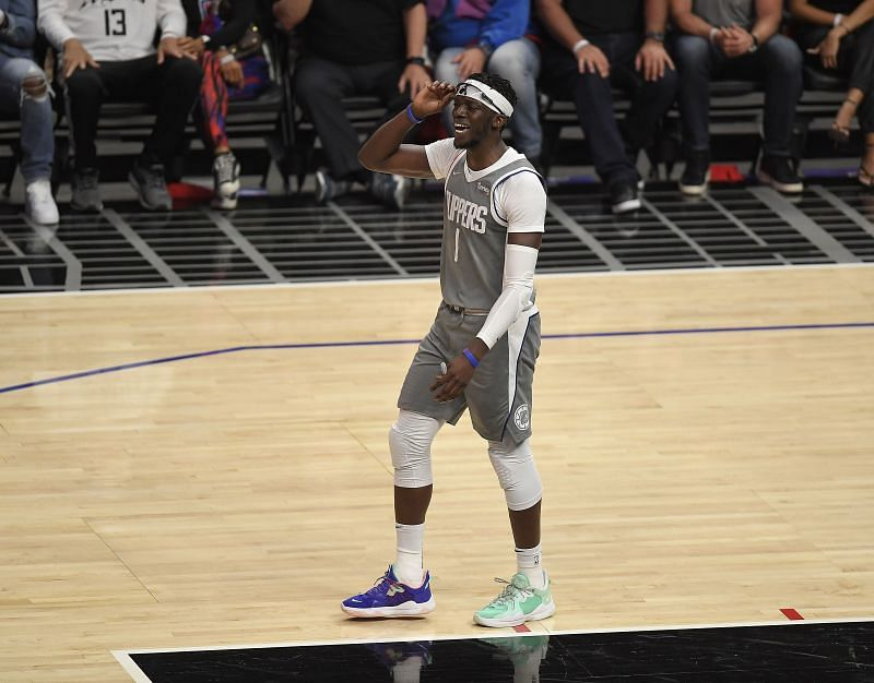 Reggie Jackson pictured during an NBA playoff game.