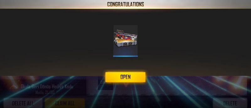 The reward of the new Free Fire code for 15 September 2021 (Image via Free Fire)
