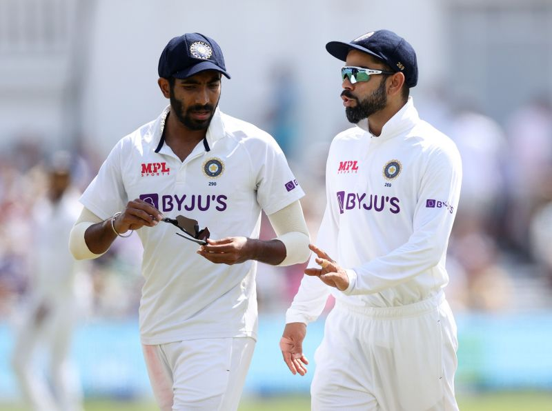 Jasprit Bumrah (left) was on fire on the fifth day of the Oval Test.