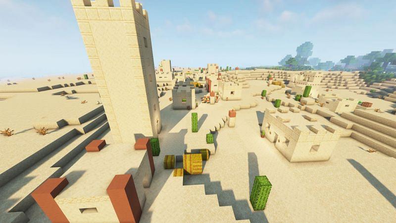 A desert village (Image via Minecraft)