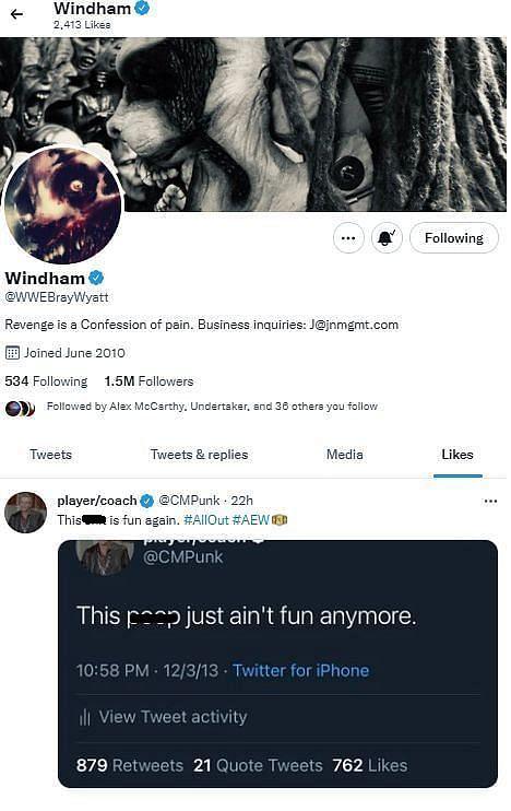 Bray Wyatt reacts to CM Punk's tweet about wrestling being fun again