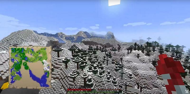 Beautiful new cliffs (Image via Wattles on YouTube)