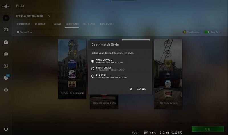 Οι χρήστες έχουν τώρα τρεις τύπους deathmatch (μέσω βαλβίδας εικόνας)