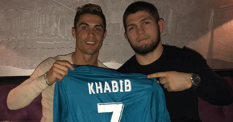 Cristiano Ronaldo & Khabib Nurmagomedov [Images Courtesy: @cristiano on Instagram]