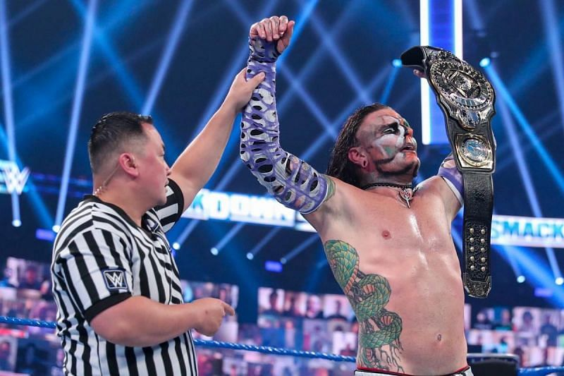 Jeff Hardy won the Intercontinental Championship in front of virtual fans