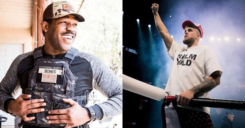 Jon Jones (left, Jake Paul (right) [Images Courtesy: @jonnybones @jakepaul on Instagram]