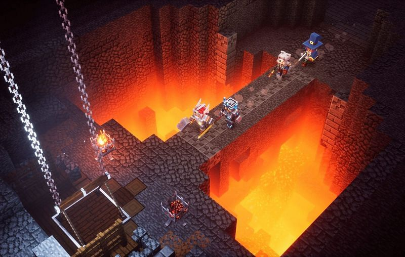 Minecraft Dungeons allows players to experience a lot of different things, including weapons (Image via Mojang)