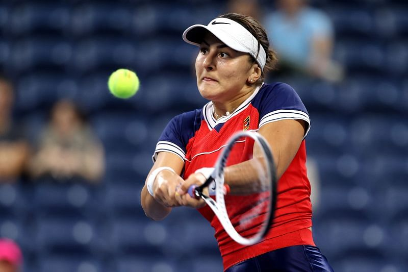 Bianca Andreescu scored a hard-fought win over Maria Sakkari in Miami earlier this year.