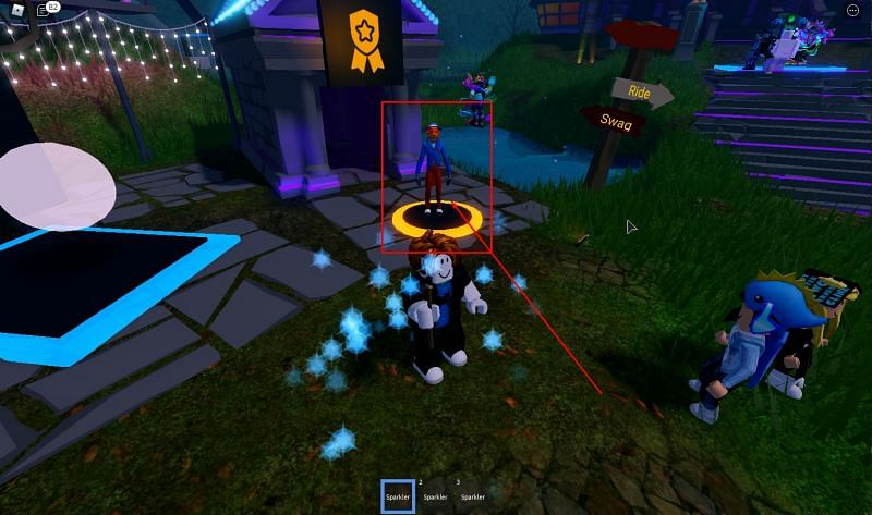 The fox that allows you to redeem codes in Mansion of Wonder. (Image via Roblox Corporation)