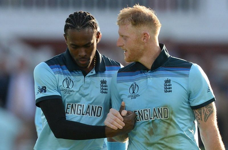 Jofra Archer and Ben Stokes. (Image Credits: Twitter)