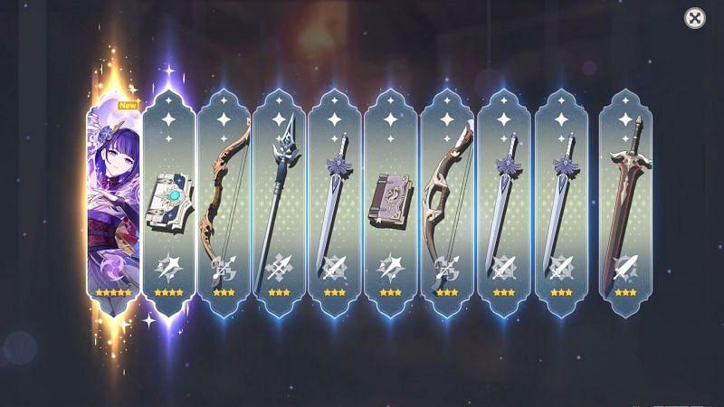 Summoning Raiden Shogun (Image via Genshin Impact)