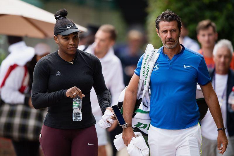 Serena Williams and Patrick Mouratoglou