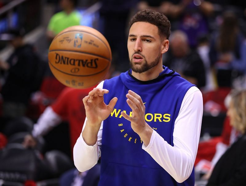 Klay Thompson of the Golden State Warriors in the 2019 NBA Finals.