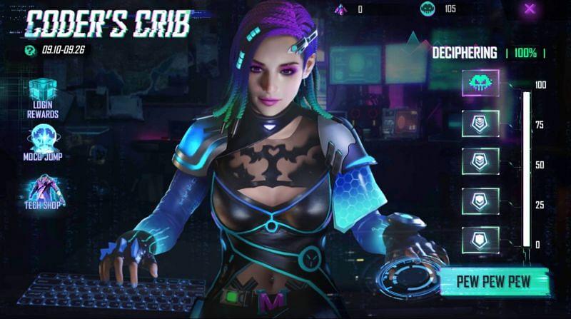 The Coder's Crib event will run till 26 September (Image via Free Fire)