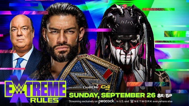WWE Extreme Rules 2021 में यूनिवर्सल चैंपियनशिप मैच में रोमन रेंस vs डीमन किंग का मुकाबला होगा।