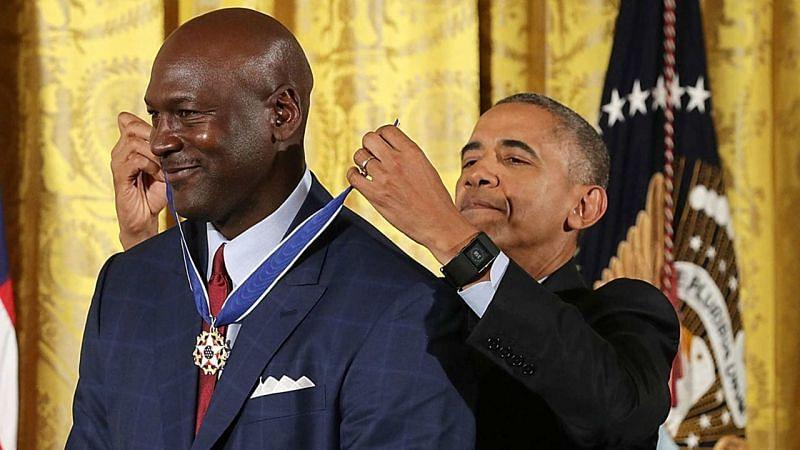 Michael Jordan receives the Presidential Medal of Freedom