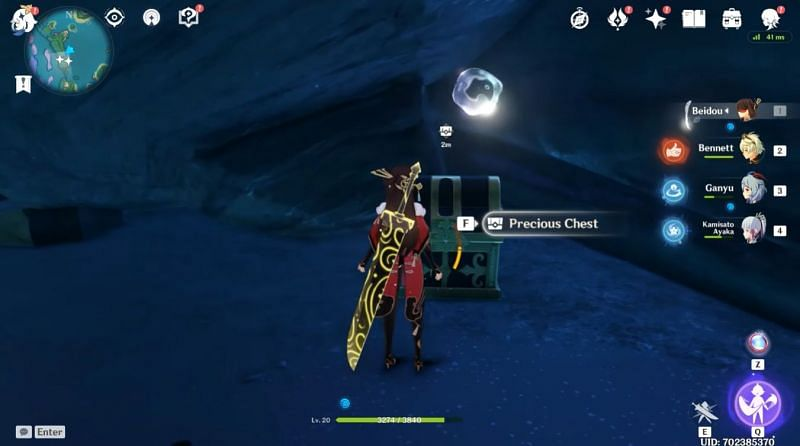 Break the rock pile to claim the Precious Chest (Image via Kleeaned, Youtube)